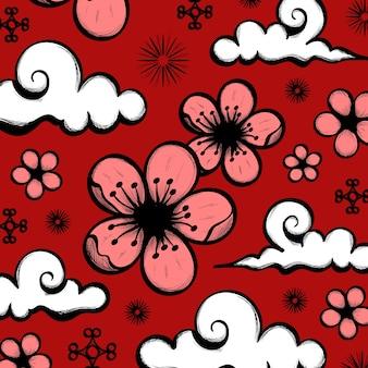 Ręcznie rysowane chiński nowy rok