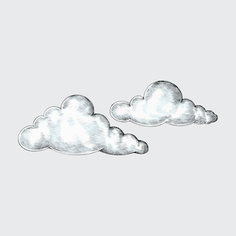 Ręcznie rysowane chmury ilustracja