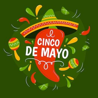 Ręcznie rysowane cinco de mayo