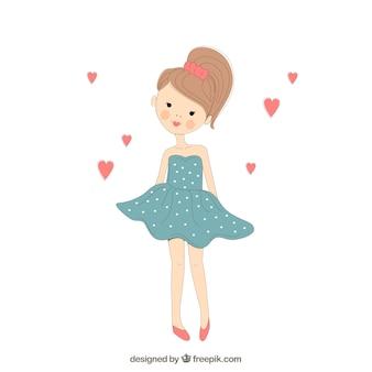Ręcznie rysowane cute girl