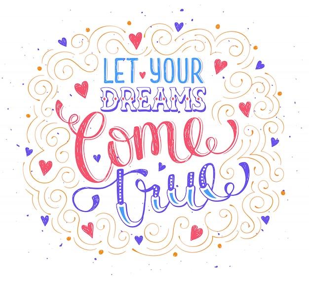 Ręcznie rysowane cytat o śnie.