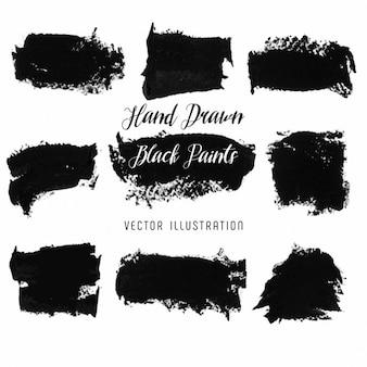 Ręcznie rysowane czarne plamy