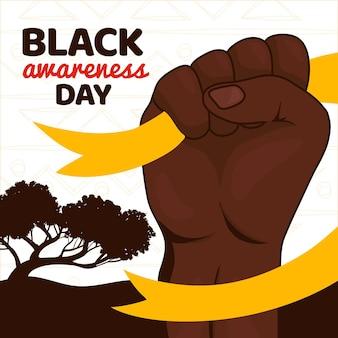 Ręcznie rysowane czarny dzień świadomości