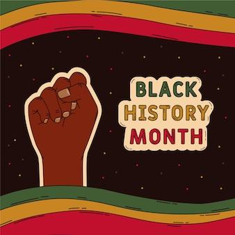 Ręcznie rysowane czarny miesiąc historii ilustracja