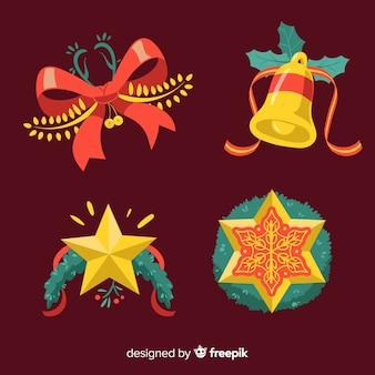 Ręcznie rysowane dekoracja christmas background