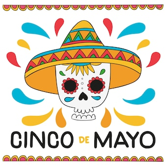 Ręcznie rysowane design cinco de mayo