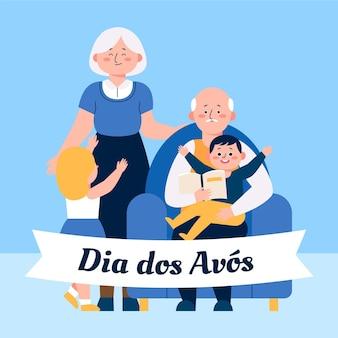 Ręcznie rysowane dia dos avós