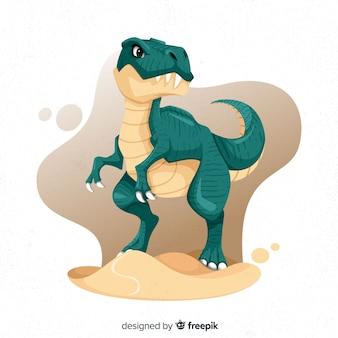 Ręcznie rysowane dinozaur t-rex