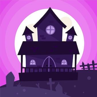 Ręcznie rysowane dom halloween