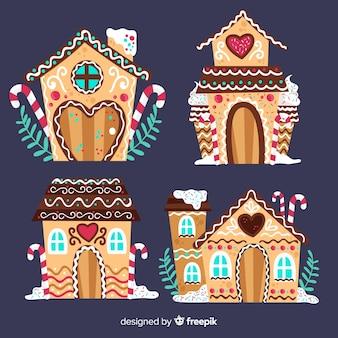 Ręcznie rysowane dom z piernika