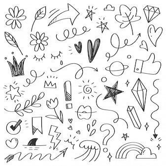 Ręcznie rysowane doodle bazgroły streszczenie