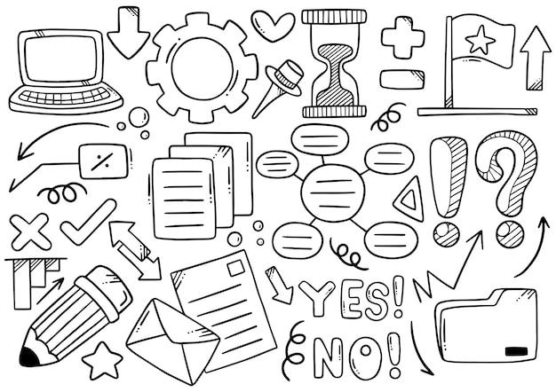 Ręcznie rysowane doodle elementals business