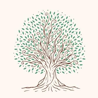 Ręcznie Rysowane Drzewa życia Premium Wektorów