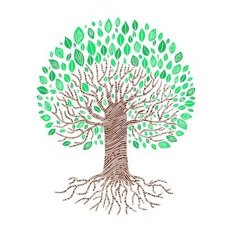 Ręcznie rysowane drzewa życia