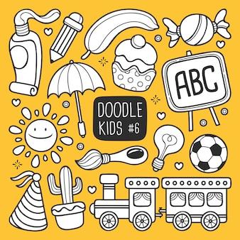 Ręcznie rysowane dzieci doodle