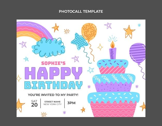 Ręcznie rysowane dziecinna fotorozmowa urodzinowa
