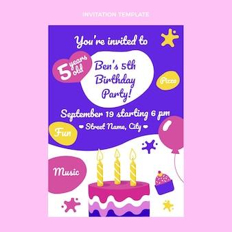 Ręcznie rysowane dziecinne zaproszenie na urodziny