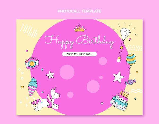 Ręcznie rysowane dziecinne zdjęcie urodzinowe