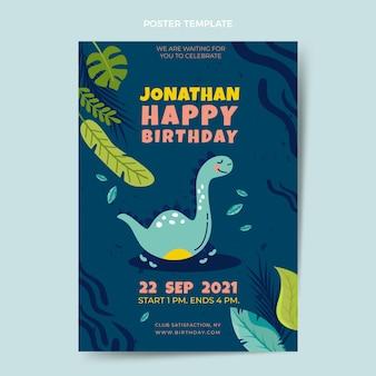 Ręcznie rysowane dziecinny plakat urodzinowy