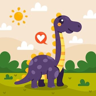 Ręcznie rysowane dziecko dinozaura