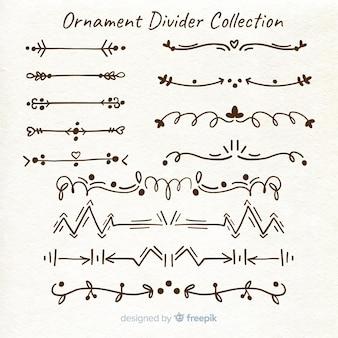 Ręcznie rysowane dzielniki ornamentów