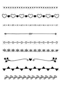 Ręcznie rysowane dzielniki