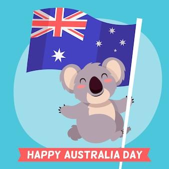 Ręcznie rysowane dzień australii
