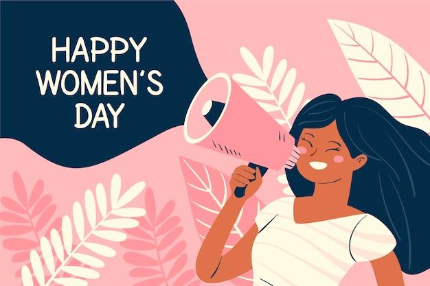 Ręcznie rysowane dzień kobiet