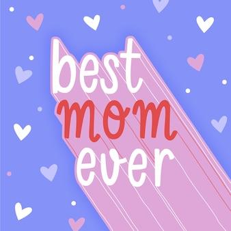Ręcznie rysowane dzień matki