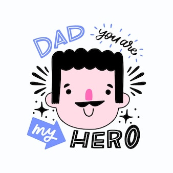 Ręcznie rysowane dzień ojca