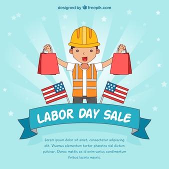 Ręcznie rysowane dzień pracy skład sprzedaży
