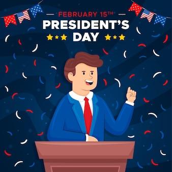 Ręcznie rysowane dzień prezydentów