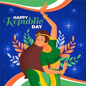 Ręcznie rysowane dzień republiki