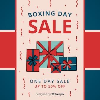 Ręcznie rysowane dzień sprzedaży tło boxing