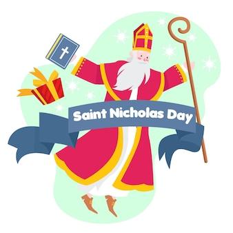 Ręcznie rysowane dzień świętego mikołaja