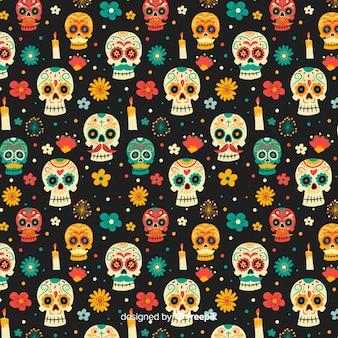 Ręcznie rysowane dzień zmarłych wzór
