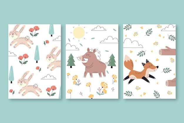 Ręcznie rysowane dzikie zwierzęta obejmuje kolekcję