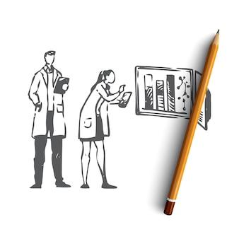 Ręcznie rysowane eksperyment laboratoryjny