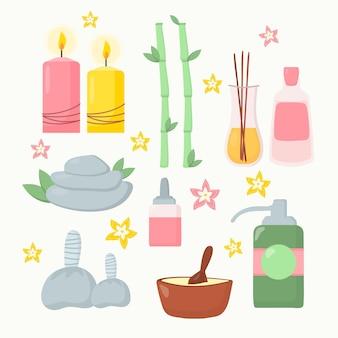 Ręcznie rysowane elementy aromaterapii