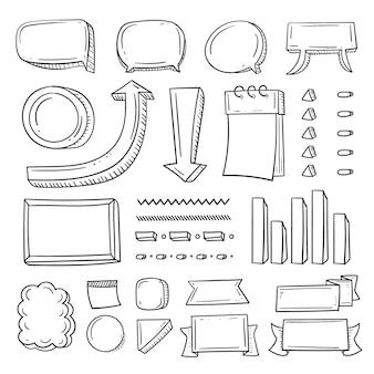 Ręcznie rysowane elementy dziennika punktorów