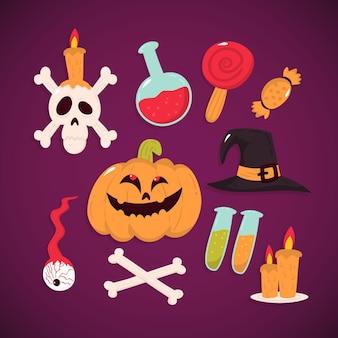 Ręcznie rysowane elementy halloween