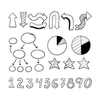 Ręcznie rysowane elementy infografiki szkoły
