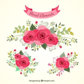 Ręcznie rysowane elementy kwiatu