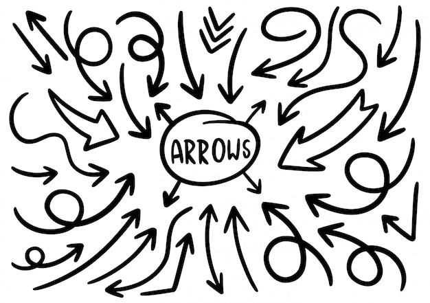 Ręcznie rysowane elementy projektu doodle.
