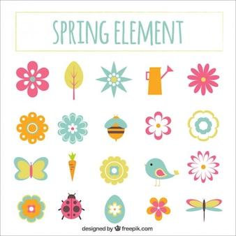Ręcznie rysowane elementy słodkie wiosną