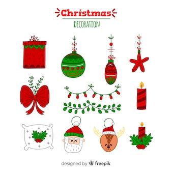 Ręcznie rysowane elementy świąteczne