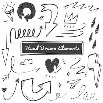 Ręcznie rysowane elementy