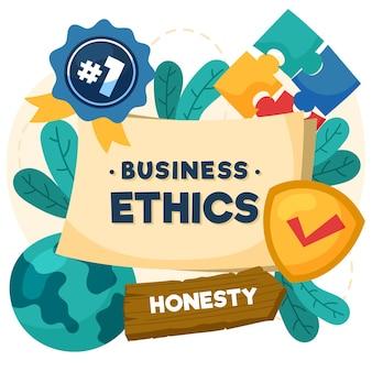 Ręcznie rysowane etyka biznesu