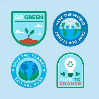 Ręcznie rysowane etykiety dotyczące zmian klimatu