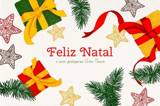 Ręcznie rysowane feliz natal